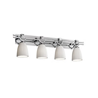 Justice Design Limoges Argyle 4-Light Bath Bar in Polished Chrome POR-8504-18-PLET-CROM