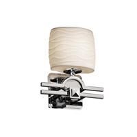 Justice Design POR-8507-30-WAVE-CROM-LED1-700 Limoges LED 9 inch Polished Chrome ADA Wall Sconce Wall Light, Argyle