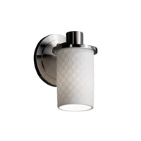 Limoges 1 Light 5 inch Brushed Nickel Wall Sconce Wall Light in Checkerboard