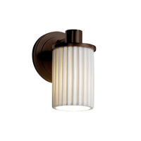 Limoges 1 Light 5 inch Dark Bronze Wall Sconce Wall Light in Pleats