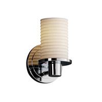 Justice Design POR-8511-10-SAWT-CROM-LED1-700 Limoges LED 5 inch Polished Chrome Wall Sconce Wall Light, Rondo