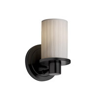 Justice Design Limoges Rondo 1-Light Wall Sconce in Matte Black POR-8511-10-WFAL-MBLK