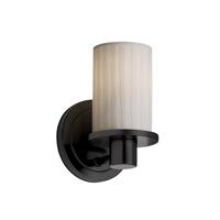Justice Design Limoges Rondo 1-Light Wall Sconce in Matte Black POR-8511-10-WFAL-MBLK