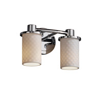 Justice Design Limoges Rondo 2-Light Bath Bar in Polished Chrome POR-8512-10-CHKR-CROM photo thumbnail