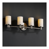 Justice Design Limoges Rondo 4-Light Bath Bar in Brushed Nickel POR-8514-10-WAVE-NCKL