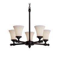 Justice Design Limoges Tradition 5-Light Chandelier in Dark Bronze POR-8520-20-PLET-DBRZ