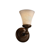 Justice Design Limoges Tradition 1-Light Wall Sconce in Dark Bronze POR-8521-20-LEAF-DBRZ