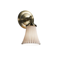 Limoges 1 Light 6 inch Antique Brass Wall Sconce Wall Light in Pleats