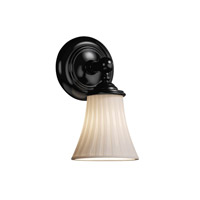 Justice Design Limoges Tradition 1-Light Wall Sconce in Matte Black POR-8521-20-WFAL-MBLK