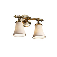Justice Design Limoges Tradition 2-Light Bath Bar in Antique Brass POR-8522-20-LEAF-ABRS