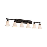 Limoges 6 Light 48 inch Dark Bronze Bath Bar Wall Light in Pleats