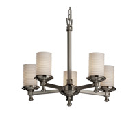 Justice Design Limoges Deco 5-Light Chandelier in Brushed Nickel POR-8530-10-SAWT-NCKL