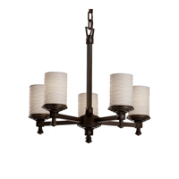 Justice Design Limoges Deco 5-Light Chandelier in Dark Bronze POR-8530-10-WAVE-DBRZ