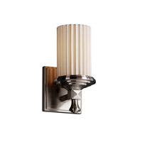 Justice Design Limoges Deco 1-Light Wall Sconce in Brushed Nickel POR-8531-10-PLET-NCKL