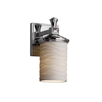 Justice Design POR-8531-10-WAVE-CROM-LED1-700 Limoges LED 5 inch Polished Chrome Wall Sconce Wall Light, Deco