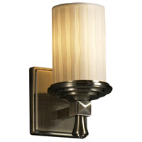 Justice Design Limoges Deco 1-Light Wall Sconce in Antique Brass POR-8531-10-WFAL-ABRS photo thumbnail