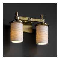 Justice Design Limoges Deco 2-Light Bath Bar in Antique Brass POR-8532-10-WAVE-ABRS photo thumbnail
