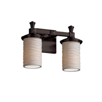 Justice Design Limoges Deco 2-Light Bath Bar in Dark Bronze POR-8532-10-WAVE-DBRZ