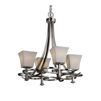 Justice Design Limoges Arcadia 4-Uplight Chandelier in Brushed Nickel POR-8560-40-WFAL-NCKL