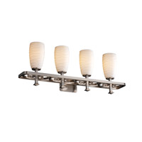 Justice Design Limoges Arcadia 4-Light Bath Bar in Brushed Nickel POR-8564-28-WAVE-NCKL