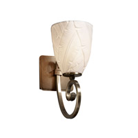 Justice Design Limoges Victoria 1-Light Wall Sconce in Antique Brass POR-8571-18-BANL-ABRS