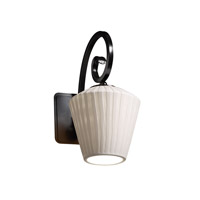 Justice Design Limoges Victoria 1-Light Wall Sconce in Matte Black POR-8571-22-WFAL-MBLK