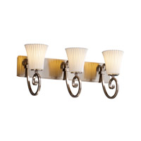 Justice Design Limoges Victoria 3-Light Bath Bar in Brushed Nickel POR-8573-20-PLET-NCKL
