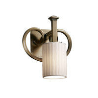 Justice Design Limoges Heritage 1-Light Wall Sconce in Antique Brass POR-8581-10-WFAL-ABRS