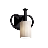 Justice Design Limoges Heritage 1-Light Wall Sconce in Matte Black POR-8581-10-WFAL-MBLK