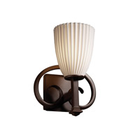 Justice Design Limoges Heritage 1-Light Wall Sconce in Dark Bronze POR-8581-18-PLET-DBRZ