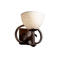 Justice Design Limoges Heritage 1-Light Wall Sconce in Dark Bronze POR-8581-35-WAVE-DBRZ