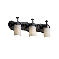 Justice Design Limoges Heritage 3-Light Bath Bar in Dark Bronze POR-8583-10-PLET-DBRZ