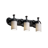 Justice Design Limoges Heritage 3-Light Bath Bar in Dark Bronze POR-8583-10-SAWT-DBRZ