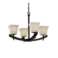 Justice Design Archway 4 Light Chandelier in Dark Bronze POR-8590-40-WFAL-DBRZ