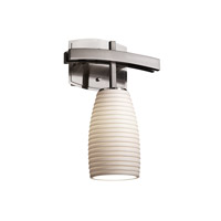 Justice Design Limoges Archway 1-Light Wall Sconce in Brushed Nickel POR-8591-28-SAWT-NCKL