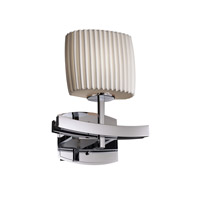 Limoges 1 Light 9 inch Polished Chrome Wall Sconce Wall Light in Pleats, Oval