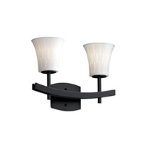 Justice Design Limoges Archway 2-Light Bath Bar in Matte Black POR-8592-20-OVAL-MBLK