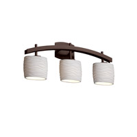 Limoges 3 Light 26 inch Dark Bronze Bath Bar Wall Light in Waves, Oval