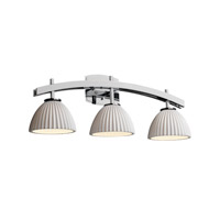 Justice Design Limoges Archway 3-Light Bath Bar in Polished Chrome POR-8593-35-PLET-CROM