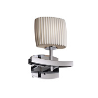 Archway 1 Light 9 inch Polished Chrome ADA Wall Sconce Wall Light in Pleats