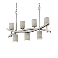 Archway 7 Light 6 inch Brushed Nickel Chandelier Ceiling Light in Waterfall, Cylinder with Flat Rim