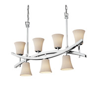 Archway 7 Light 6 inch Polished Chrome Chandelier Ceiling Light in Pleats, Round Flared