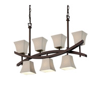 Archway 7 Light 6 inch Dark Bronze Chandelier Ceiling Light in Checkerboard, Square Flared