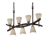 Justice Design Archway 7 Light Chandelier in Dark Bronze POR-8598-50-SAWT-DBRZ