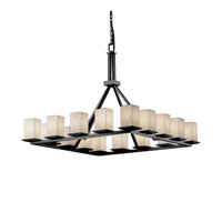 Justice Design Limoges Montana 16-Light Ring Chandelier in Matte Black POR-8615-15-PLET-MBLK