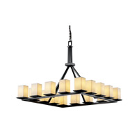 Justice Design Limoges Montana 16-Light Ring Chandelier in Matte Black POR-8615-15-SAWT-MBLK