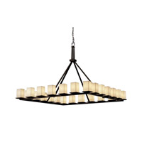Justice Design Limoges Montana 24-Light Ring Chandelier in Dark Bronze POR-8616-15-WFAL-DBRZ photo thumbnail