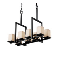 Justice Design Limoges Montana 8-Up & 3-Downlight Bridge Chandelier in Matte Black POR-8618-15-SAWT-MBLK