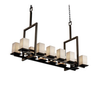 Justice Design Limoges Montana 12-Up & 5-Downlight Bridge Chandelier (Tall) in Dark Bronze POR-8619-15-PLET-DBRZ