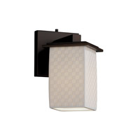 Justice Design Limoges Montana 1-Light Wall Sconce (Angled Bobeche) in Dark Bronze POR-8661-15-CHKR-DBRZ
